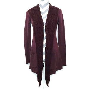 Anthro Evenie Chenille Cardigan Angel Of The North
